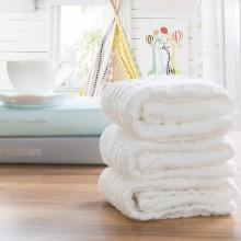 朴寐生活(樸眠).全棉母婴毯子 白色-100*100cm P00002956